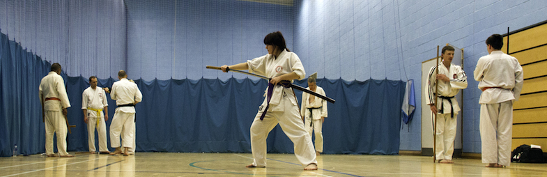 Training with traditional Japanese Weapons