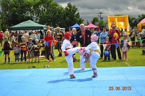 Leah & Lucy Hunter provide one of the Sparring Demonstrations